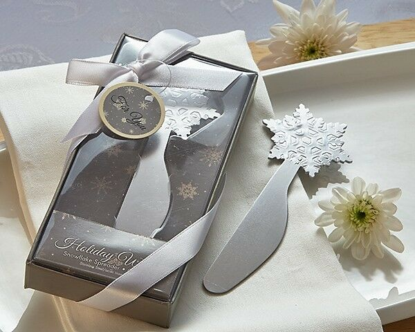 Winter Wishes Snowflake Cheese Spreader Bridal Wedding Favor Holiday Party Gift