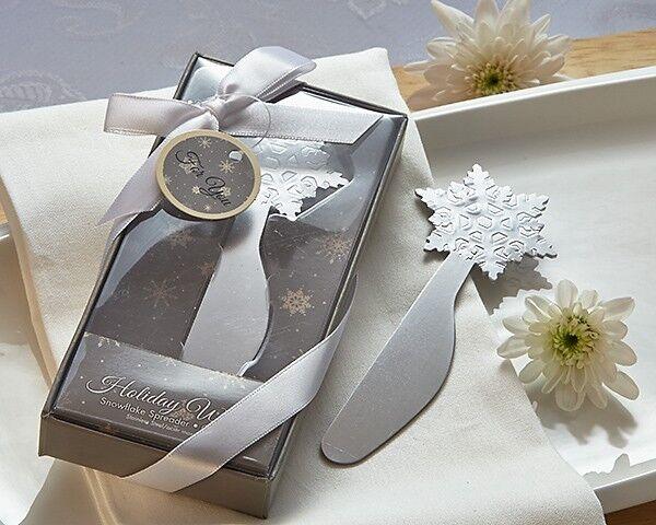 Winter Wishes Flocon De Neige fromage épandeur Mariage Faveur des Fêtes Cadeau