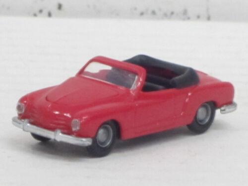 1:87 I.M.U. OVP vergilbt VW Karmann Ghia Cabrio in rot