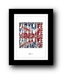 BLUR Parklife #4  ❤  song lyrics typography poster art print