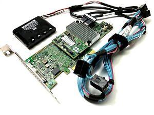 LSI-12GB-8-Port-MegaRaid-SAS-9361-8i-Card-Battery-CacheVault-2Cable-SFF8643-8643