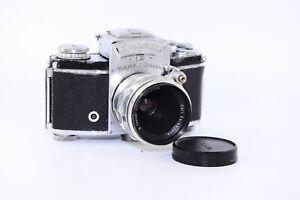 Seltene-EXAKTA-Varex-IIa-Ihagee-Dresden-35mm-Film-SLR-Kamera-mit-S-Tessar-F-5cm-EXC