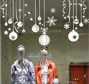 Christmas-Decor-Ball-Shop-Window-Stickers-Wall-Decal-UK-SH02