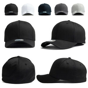 XL~2XL 60~63Cm Mens Plain Stretch Fit Flexfit Spandex Baseball Cap ... 729cb7bffc7