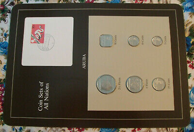 Coin Sets of All Nations Surinam Suriname w//card UNC 1 5 cents 1982 25,10c 1985