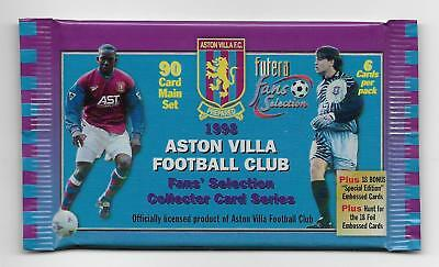 21 Available UNOPENED PACK 1998 Futera ASTON VILLA FC Fans Selection
