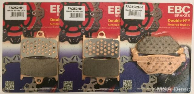 Yamaha TDM900 (2002 to 2014) EBC Sintered FRONT and REAR Disc Brake Pads 3 Sets