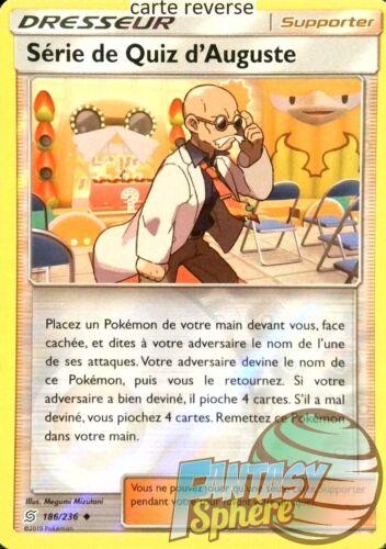 VF Français SL11 Pokemon Reverse 186//236/_R Serie de Quiz d/'Auguste