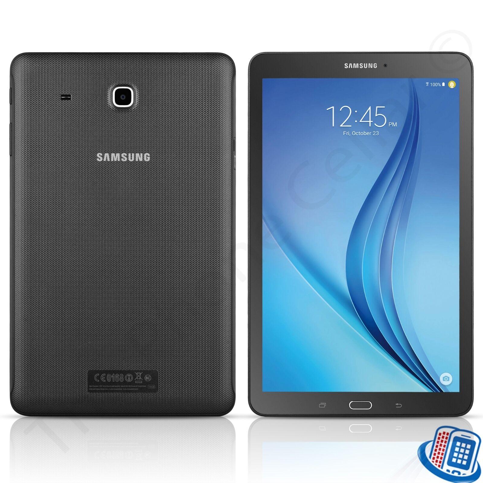 samsung galaxy tab e 9 6 sm t560nu 16gb wifi black tablet. Black Bedroom Furniture Sets. Home Design Ideas