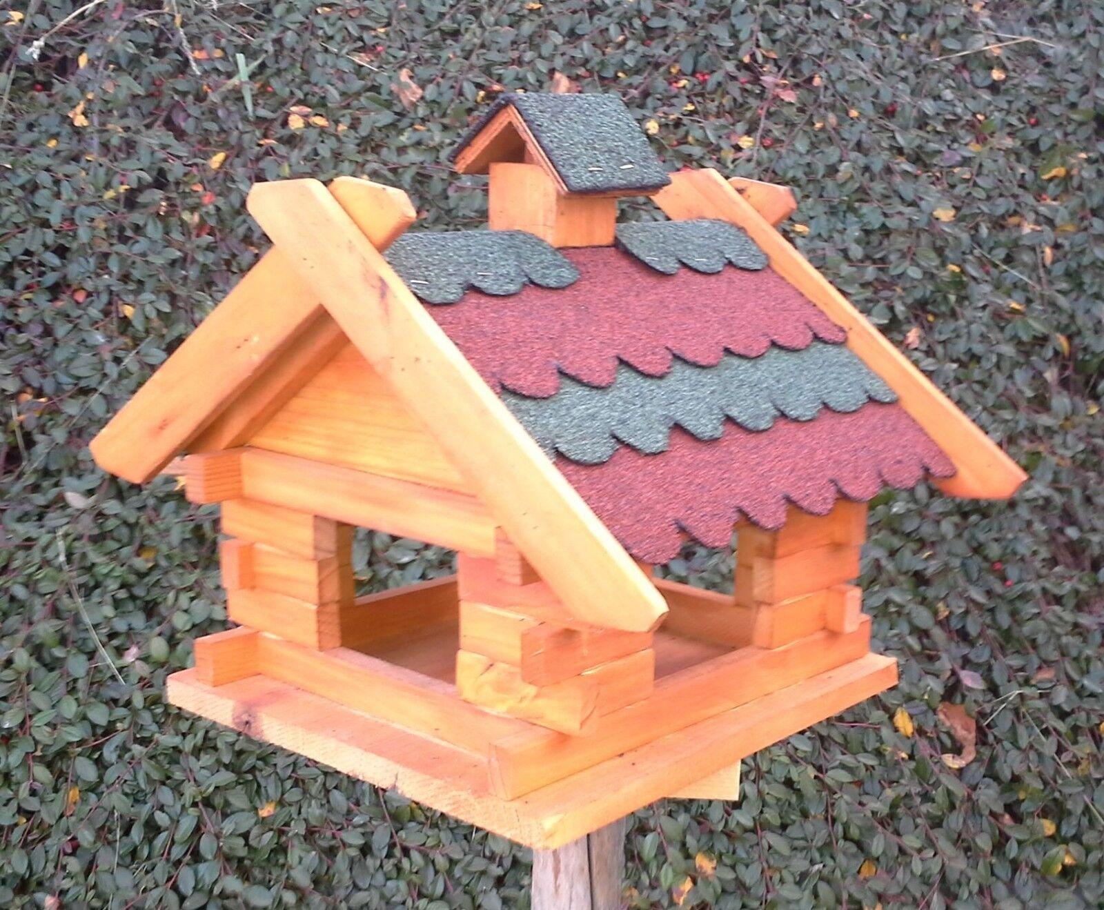 Vogelhaus Vogelhaus Vogelhaus - Futterhaus - Vogelhäuschen - Holz - rot-grün - XL 46 X 34 X 40 cm | Online-Shop  | Erlesene Materialien  | Der Schatz des Kindes, unser Glück  b5e885