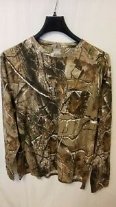 New-Realtree-Russell-Camo-Long-Sleeve-Tee-Forrest-Camouflage-Hunting-T-shirt-2XL