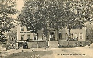 Image Is Loading Vintage Lithographed Postcard The Willows Hotel Farmington Me