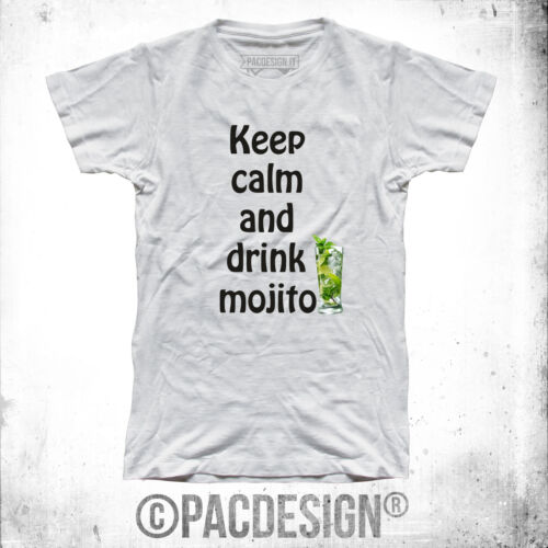 T-SHIRT UOMO KEEP CALM DRINK MOJITO WHY SO VINTAGE CL0020A
