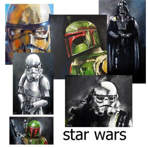 Details about  /A0,A1,A2,A3,A4 Star Wars Art Posters prints painting wall decor COA signed