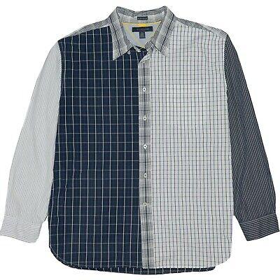 Tommy Hilfiger Herrenhemd XL Achtziger Two Ply Cotton Color Block kariert Langarm | eBay