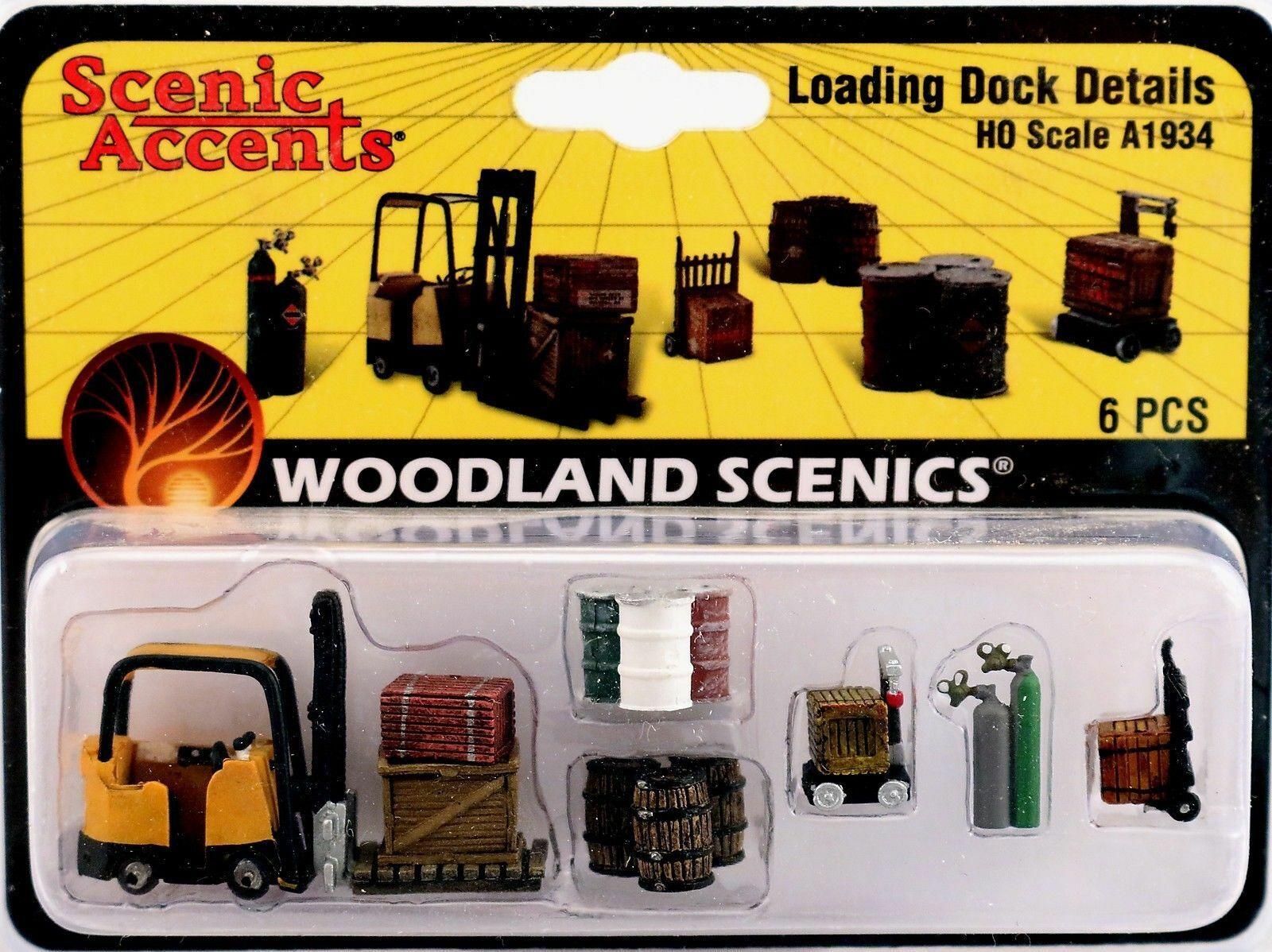 Woodland Scenics A1934 HO Train Figures Loading Dock Details