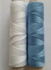 New High Quality 1 X Light Blue 50m Cotton Sewing Thread For Hand Or Machines
