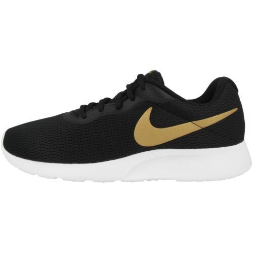 Nike Tanjun Schuhe Sneaker Laufschuhe Freizeit Sport black white gold AQ7154-001