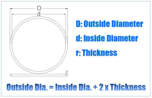 100PCS Black Nitrile butadiene O Rings Sealing Rubber Gaskets OD 5//6//7-9* 1mm