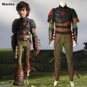 Details About How To Train Your Dragon 2 Costume Hiccup Cosplay Halloween Adult Men Full Set