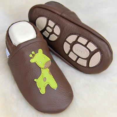 Pantofole's Baby Scarpe Pantofole Liya - #645 Giraffe In Rehbraun-