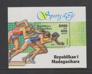 Madagaskar - 1994, Sommer SPORTS, Laufen Blatt - MNH