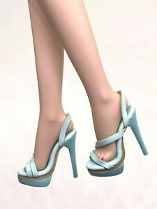1-6-ooak-Outfit-Shoes-Heels-for-Fashion-Royalty-NU-Face-Integrity-Doll-Blue