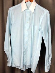 Vintage-CHRISTIAN-DIOR-034-Plus-De-Coton-034-L-S-Shirt-USA-Made-Men-039-s-15-34-35