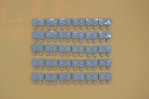 LEGO 30 x plaque 1x2 avec 2 clips neuhell Gris NEWLIGHT Grey Two Clips 60470