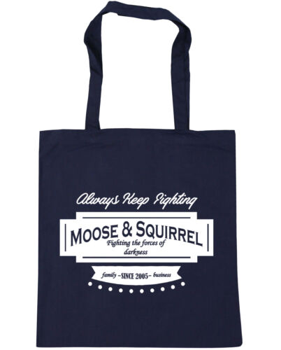 Moose /& Squirrel Family Business Since 2005 Tote Shopping Bag 42x38cm