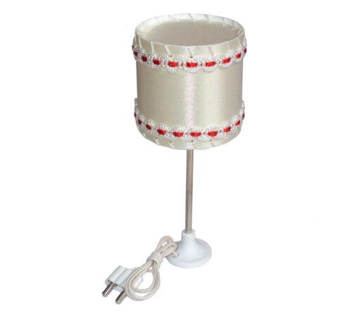 Puppenstube Lampe 3,5V Metallfuß Beli-Beco 2//216 Stehlampe für Puppenhaus