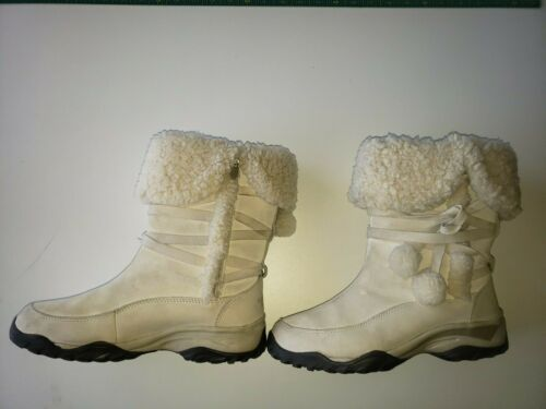 Women's North Face boots Sz 8.5 Off White Leather