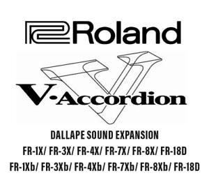 Accordion Accordeon DALLAPE EXTENSION Roland FR-7X// Roland FR-3X //FR-1X //FR-8X