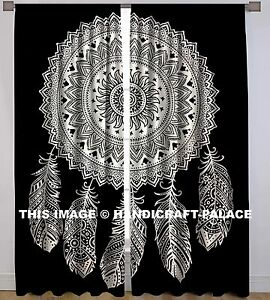 Image Is Loading Dream Catcher Feathers Room Curtains Indian Decor Mandala