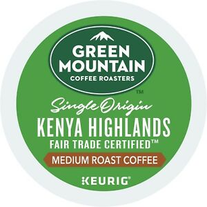 Green Mountain Kenya Highlands Coffee 24 to 144 Keurig K cups Pick Any Size
