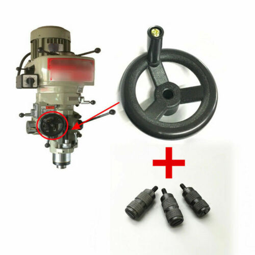 Milling Machine Fine Feed Black Plastic Hand Wheel /& 3X Feed Reverse Knob