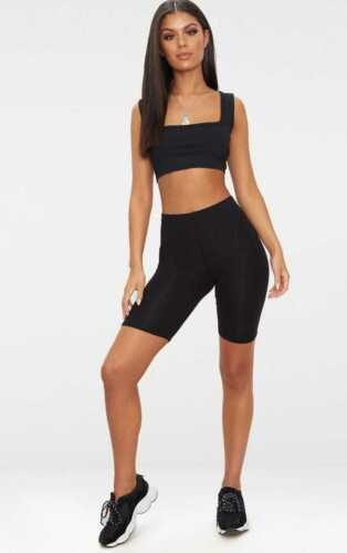 ladies Black Cycling shorts sports wear leisure casual women/'s cycle shorts