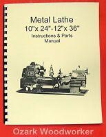 10 X 24-12 X 36 Metal Lathe Manual-jet,enco,grizzly,msc,asian 0770