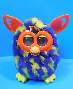 Furby Blue with Yellow Lightening Bolts and Orange Ears