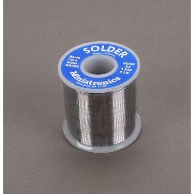 """1 lb Roll 40//60 Wire Solder Industrial Metal Alloys Co .125/"""" Lot of 2!"""