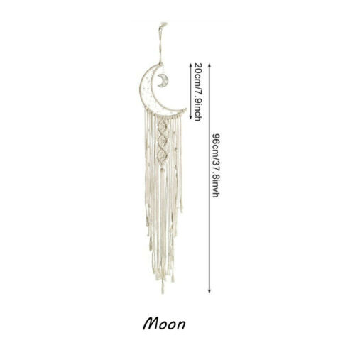 Macrame Woven Wall Hanging Tapestry Chic Bohemian Home Art Decor Owl Moon Star