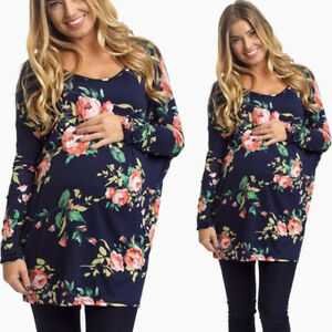 b7c66c5045699 Image is loading New-Casual-Cotton-Womens-Long-Sleeve-Blouse-Flower-