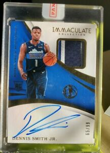 2017-18-Panini-Immaculate-Dennis-Smith-Jr-RPA-3-Color-Patch-Auto-Rookie-65-99