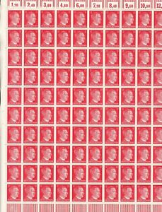 Stamp Germany 12 PF Adolf Hitler Sheet 1941 WWII 3rd Reich German MNH Faults