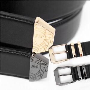 12d63f47be Details about Men's Fashion Medusa Engraved Double Buckle Leather Belt 103,  GENTLER SHOP