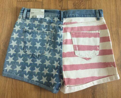 Topshop Hotpants Bandiera Moto americana Jean wwPqU