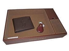 Ralph Lauren Brown Polo Valet Tray Big Pony Wallet Keychain Gentleman 3 Item Set