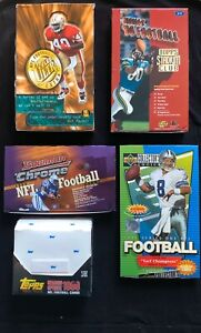 Lot of 7 UNOPENED Football Packs 1989-1999 🔥Possible Bo Jackson or Manning 🔥