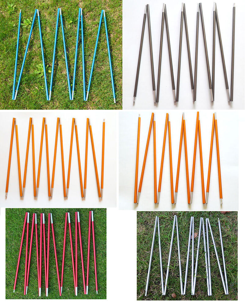 Aluminum 8.5 9.5 11mm Tent Poles 9-16 Sections Tent Spare Replacement Camping