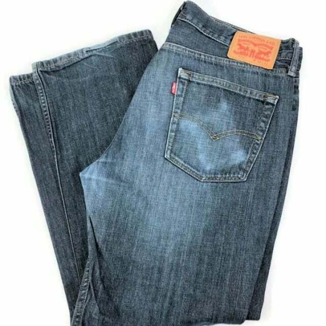 NEW Levi/'s 514 Jeans Size W34 L34 Mens Straight Leg Dark Blue Denim RRP $119.95